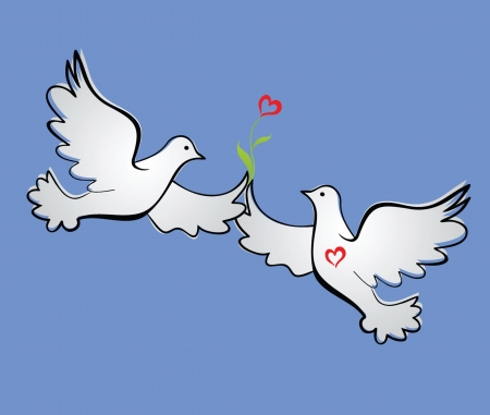 Loving doves Vector