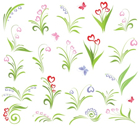 snowdrop: Set of floral elements