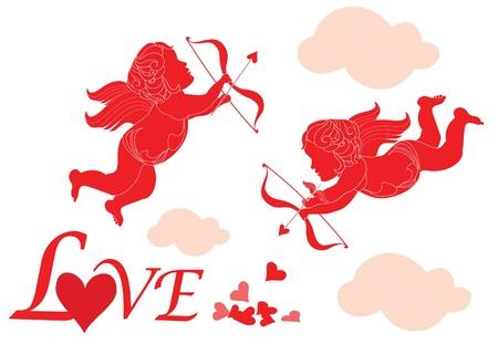cherub: Valentine card with cupid