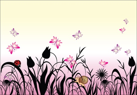 Floral background Stock Vector - 18972442