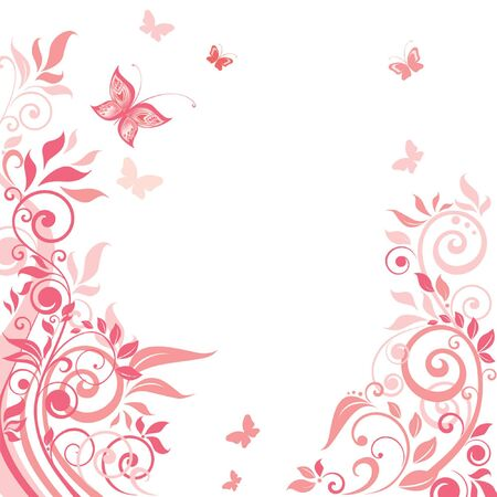 day spa: Pink floral greeting card