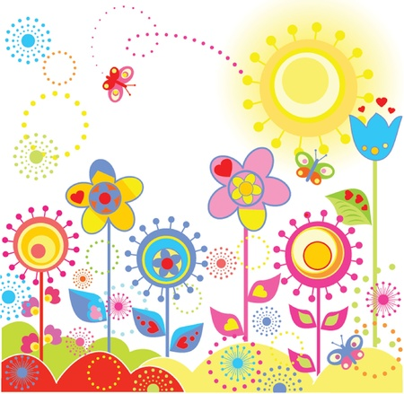 Colorful funny card Vector