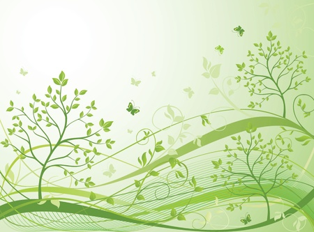 Green spring banner Stock Vector - 18972581