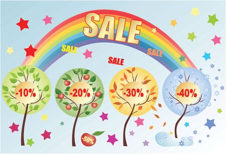 Seasonal sale Vector