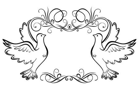 pigeons: Cadre de mariage