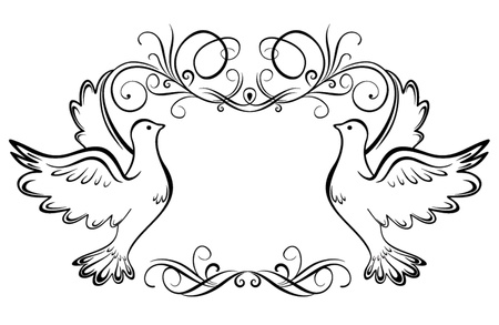 black wedding couple: Wedding frame