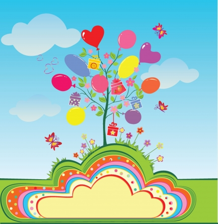 Birthday tree Vector