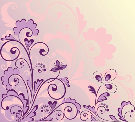 Floral violet background Vector