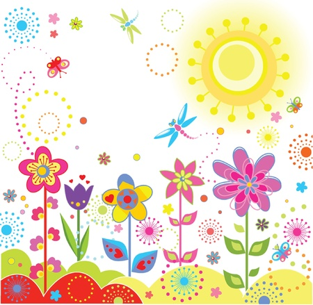 flower shape: Funny greeting card