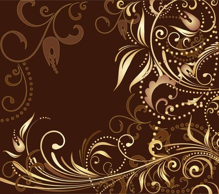 Floral background. Gold collection Stock Vector - 19002999