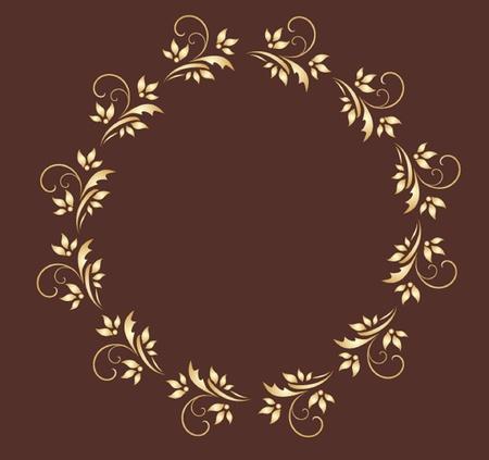 Gold wreath Vector