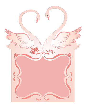Wedding greeting card with swans Stock Vector - 19002948