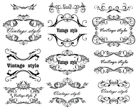 adornment: Vintage design  Set  Illustration