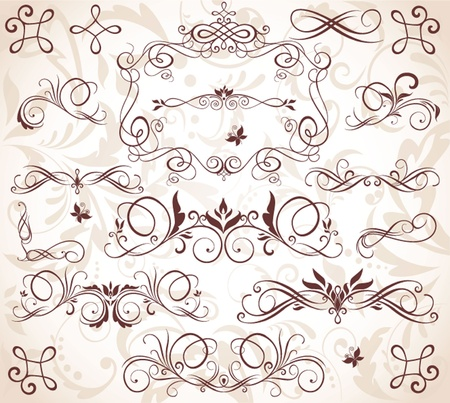 scroll border: Vintage elements Illustration