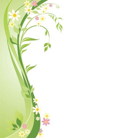 vertical banner: Spring background