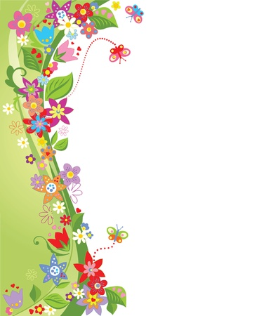 butterfly border: Summer background
