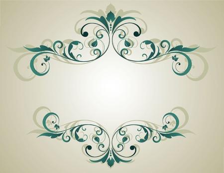 Floral grunge frame Stock Vector - 19002833