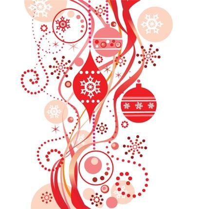 Rode kerst achtergrond Vector Illustratie