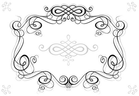 black and white frame: Retro black frame Illustration