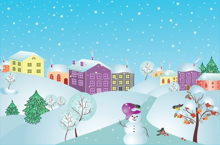 Christmas card, vector. See my gallery for more Stock Vector - 19003046