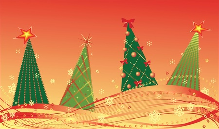 Christmas firs. See my gallery for more Stock Vector - 19024243