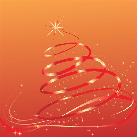 Christmas red card. See my gallery for more Stock Vector - 19024346