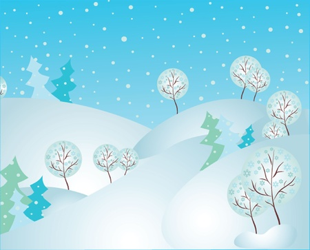 Forest in winter. See my gallery for more Stock Vector - 19024258