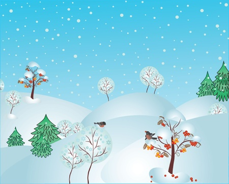 Winter forest. See my gallery for more Stock Vector - 19024248