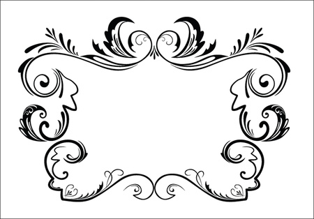 Vintage black frame Stock Vector - 19024390