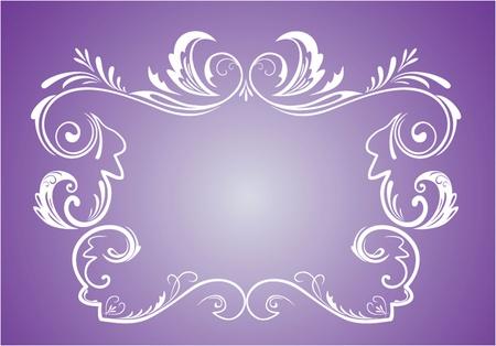 place card: Vintage violet frame Illustration