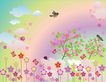 Spring illustration    Vector