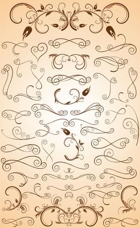 fretwork: Set of design element Illustration