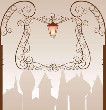 lighting column: Signboard