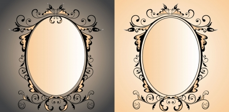 victorian anniversary: Vintage frame with mirror Illustration