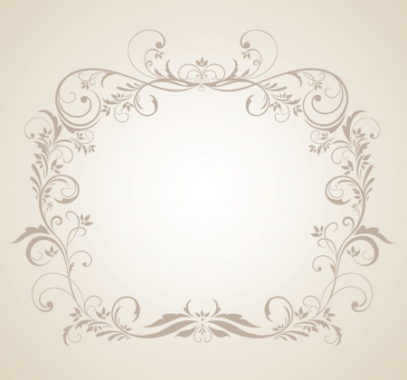 wed beauty: Beautiful floral frame Illustration