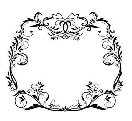 Black vintage frame Stock Vector - 19024356