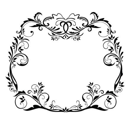 Black vintage frame Stock Vector - 19024356