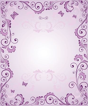congrats: Purple greeting frame