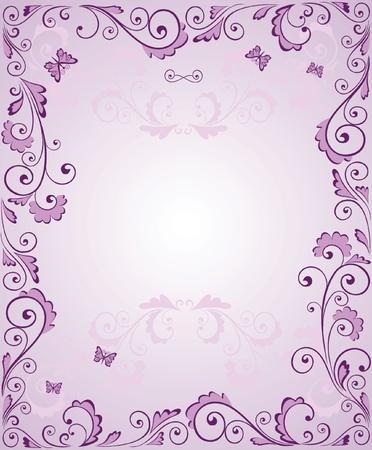 purple lilac: Purple greeting frame
