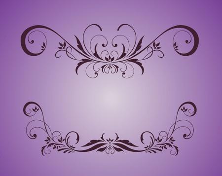 Vintage violet frame Stock Vector - 19024370