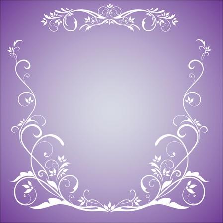 lilac background: Wedding border