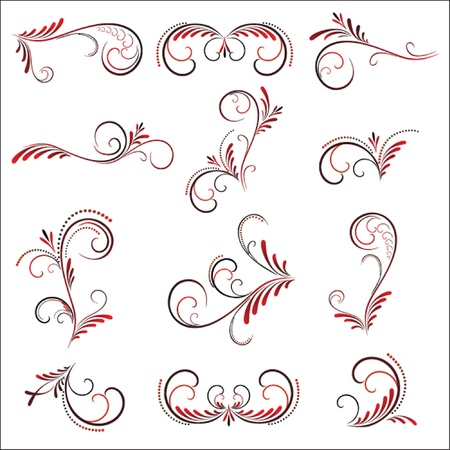 Vintage pattern (black and red).  See my gallery for more. Stock Vector - 19024340