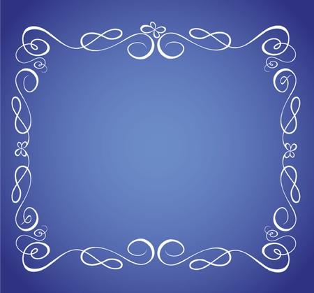Blue frame Stock Vector - 19024372