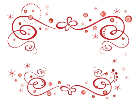 Red holiday border Stock Vector - 19024373