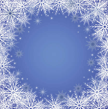 jule: Winter blue background