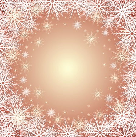 jule: Winter gold background Illustration