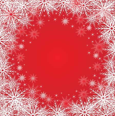 jule: Winter red background