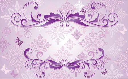 lilac background: Beautiful frame Illustration