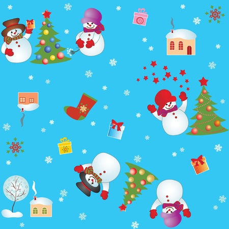 Xmas seamless wallpaper Vector