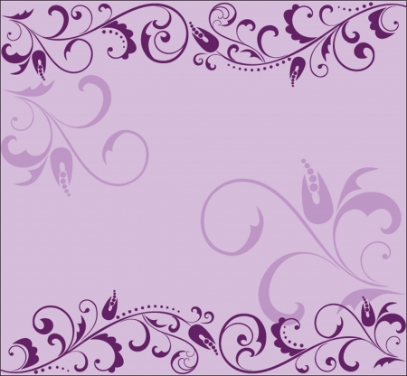 flourish frame: Floral lilac background